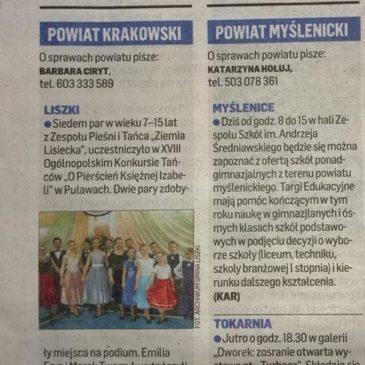 O naszych parach w Dzienniku Polskim z 14 marca 2019 r.